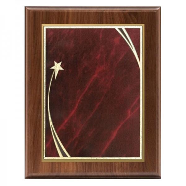 Plaque en Noyer Série Shooting Star PLW522-RED-CLEAN