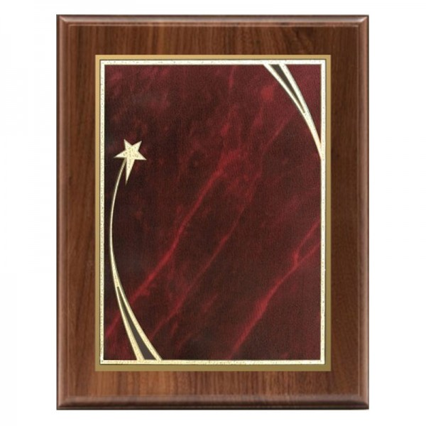 Walnut Plaque Shooting Star Series PLW522-RED-CLEAN