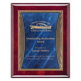 Blue and Gold Tribute Plaque PPF228-RW-BU