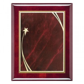Red Shooting Star Plaque PPF214-RW-RED-CLEAN