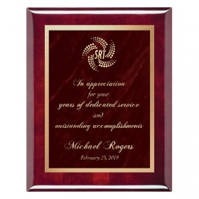 Red Marble Mist Plaque PPF244-RW-RED