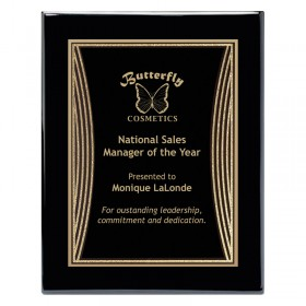 Black and Gold Tribute Plaque PPF568-BK