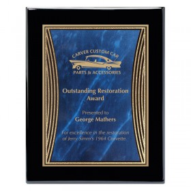 Black and Blue Tribute Plaque PPF568-BU