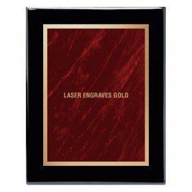 Black and Red Marble Mist Plaque PPF244-BK-RED-LASER