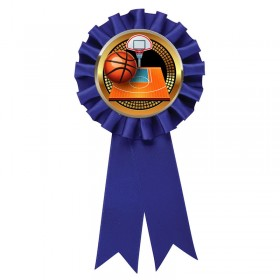 Blue Basketball Rosette RR6-BL-PGS003