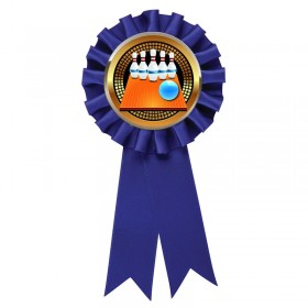 Rosette Bowling 5-pin Bleue RR6-BL-PGS005