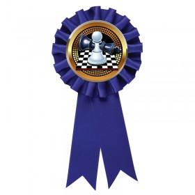 Blue Chess Rosette RR6-BL-PGS011