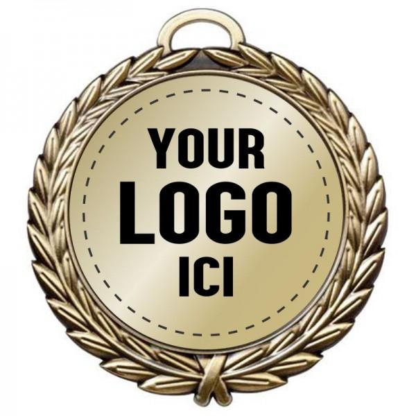 Médaille sur Mesure 4 pouces MD34-LOGO
