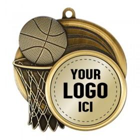 Médaille Basketball 2 1/2 po MSI-2503-LOGO