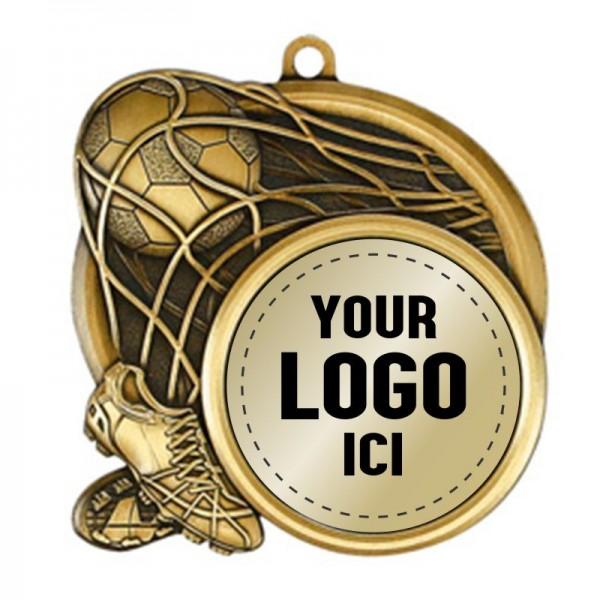 Médaille Soccer 2 1/2 po MSI-2513-LOGO