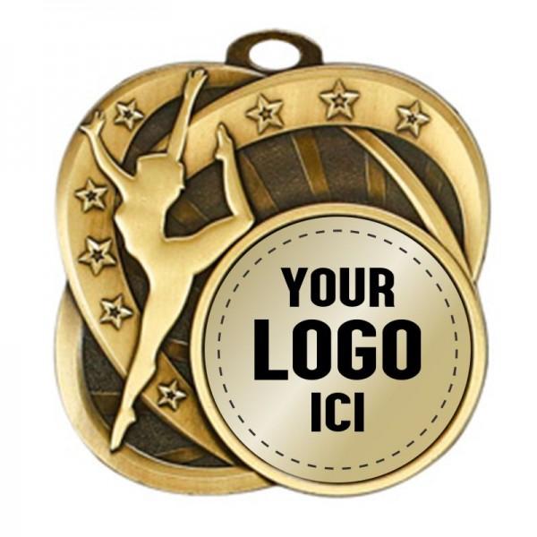 Médaille Danse 2 1/2 po MSI-2554-LOGO