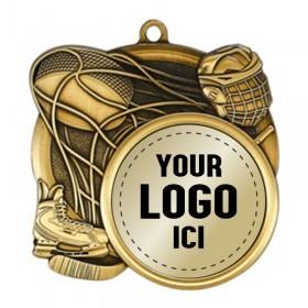Hockey Medal 2 1/2 in MSI-2510-LOGO