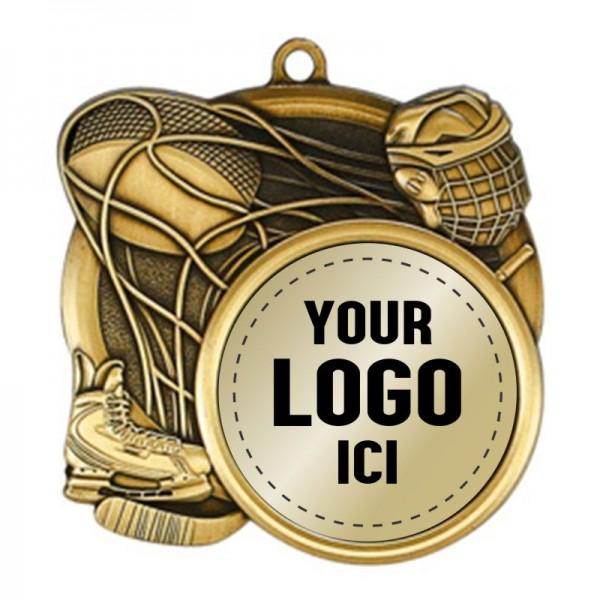 Médaille Hockey 2 1/2 po MSI-2510-LOGO