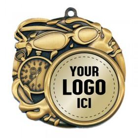 Swimming Medal 2 1/2 po MSI-2514-LOGO