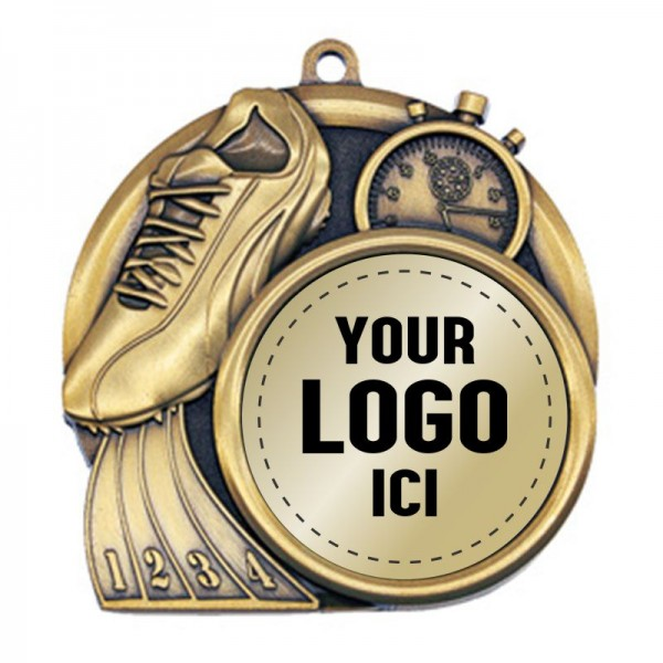 Médaille Course à Pied 2 1/2 po MSI-2516-LOGO
