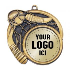 Médaille Dek Hockey 2 1/2 po MSI-2521-LOGO