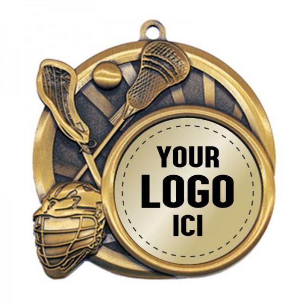 Médaille Lacrosse 2 1/2 po MSI-2528-LOGO