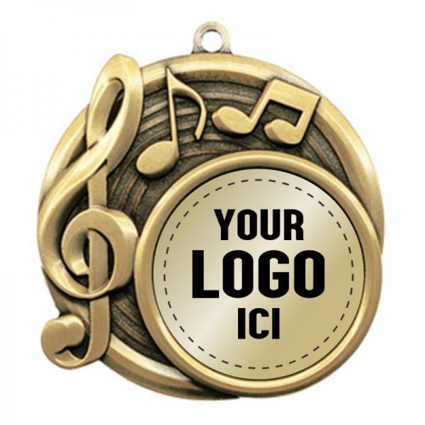 Médaille Musique 2 1/2 po MSI-2530-LOGO