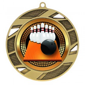 Médaille Bowling 10-pin 2 3/4 po MMI503-PGS004 Or