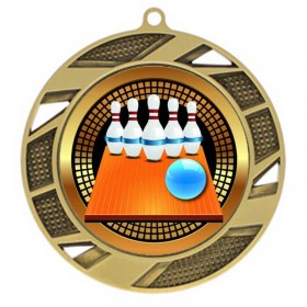 Médaille Or Bowling 5-pin 2 3/4 po MMI503-PGS005