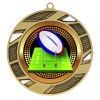 Gold Rugby Medal 2 3/4 in MMI503-PGS061