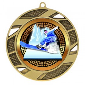 Gold Snowboard Medal 2 3/4 in MMI503-PGS081