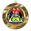 Gold Skiing Medal 2 3/4 in MMI503-PGS082