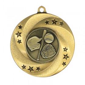 Médaille Or Baseball 2 po MMI34802