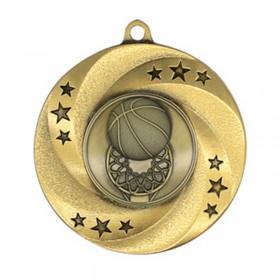 Gold Basketball Medal 2 in MMI34803