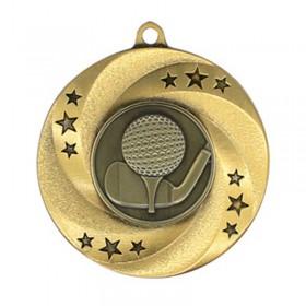Médaille Or Golf 2 po MMI34807