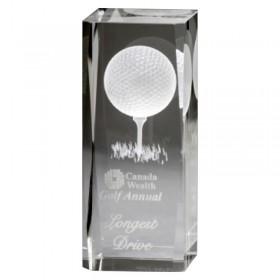 Trophée de Golf Cristal GCY107