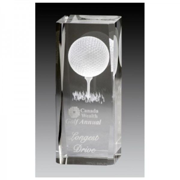 Trophée de Golf Cristal GCY107-BG