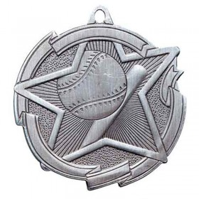 Médaille Argent Baseball 2 3/8 po MD1702AS