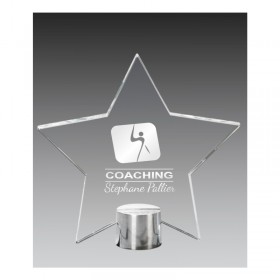 5 3/4 '' Etched Glass Trophy GS3762