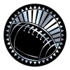Insert Coupe Football Argent TRF-3810