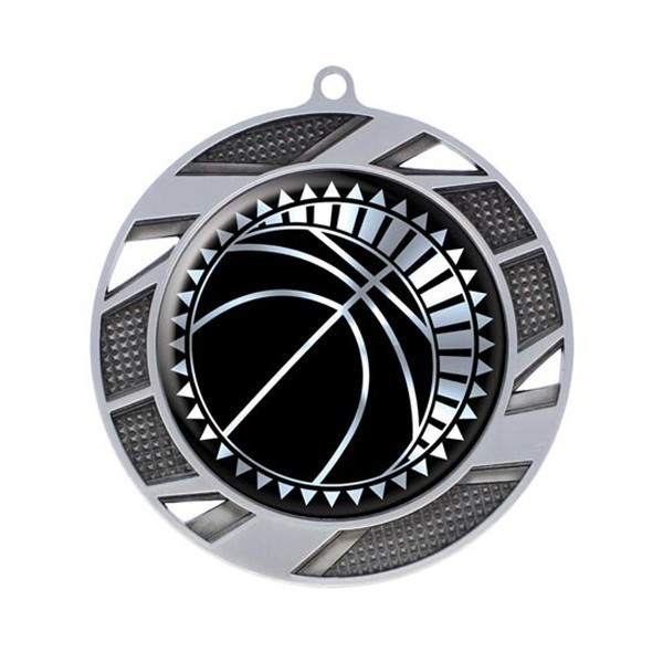 Basketball Silver Medal 2 3/4 in MMI50303S