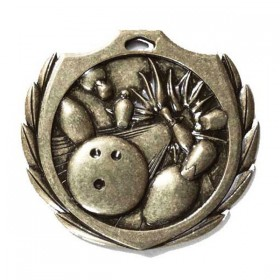 Médaille Bowling 2 1/4 po BMD04AG