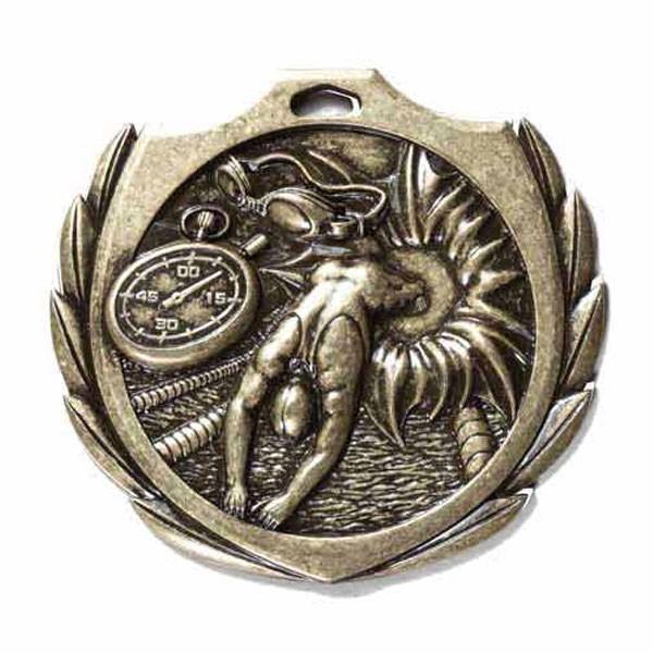 Médaille Or Natation 2 1/4 po BMD14AG