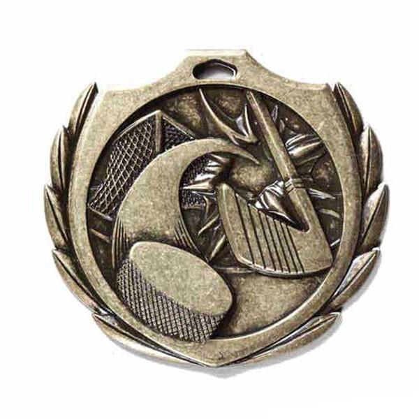 Médaille Or Hockey 2 1/4 po BMD10AG