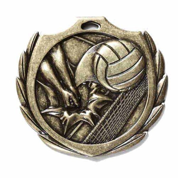 Médaille Volleyball 2 1/4 po BMD017AG