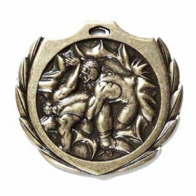 Wrestling Medal 2 1/4 in BMD018AG