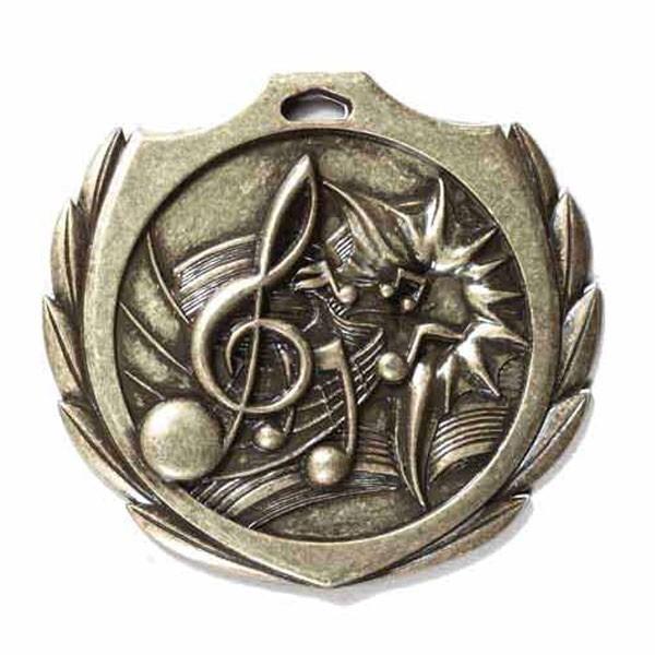 Médaille Or Musique 2 1/4 po BMD024AG