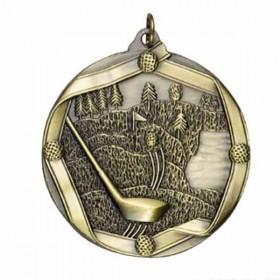 Médaille Or Golf MS607AG