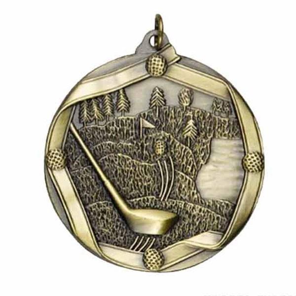 Gold Golf Medal MS607AG
