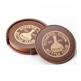 Leatherette Coaster Set LG43-T