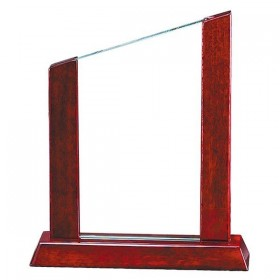 Glass and Wood Trophy GL32
