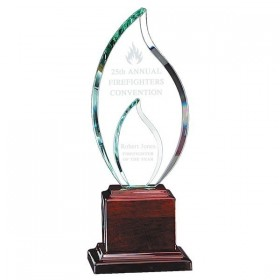 Glass and Wood Trophy GL33