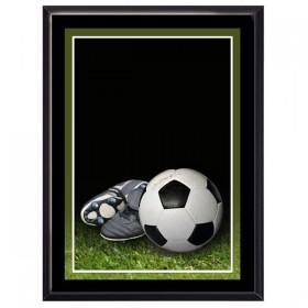 Plaque Murale Soccer Noir
