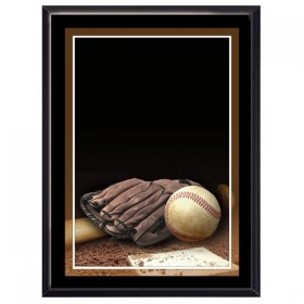 Plaque Murale Baseball Noire
