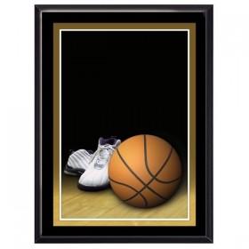 Plaque Murale Basketball Noir